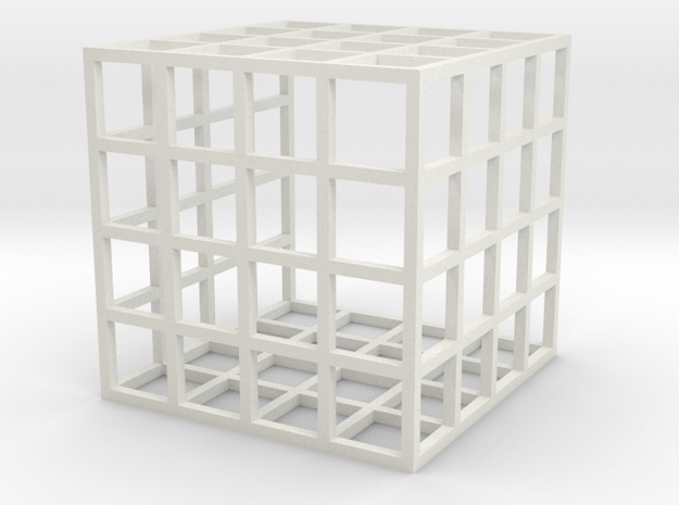The UC Stones Cage in White Natural Versatile Plastic