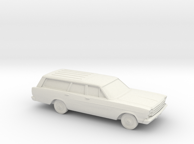 1/87 1966 Ford Country Station Wagon in White Natural Versatile Plastic
