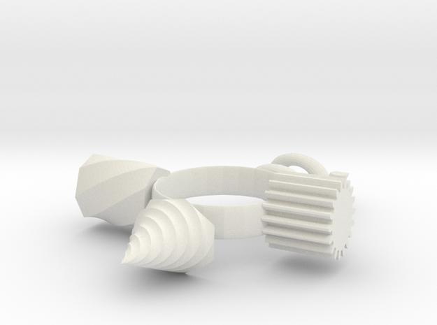 Fidget Ring in White Strong & Flexible