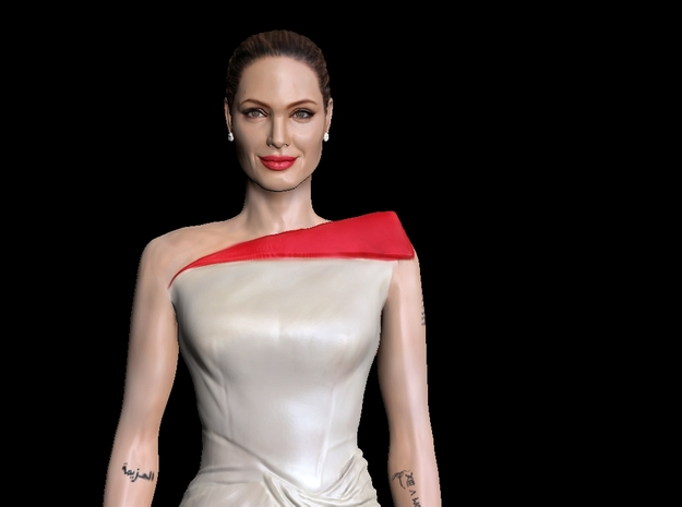 Angelina Jolie 3D Model ready for 3d print in Full Color Sandstone