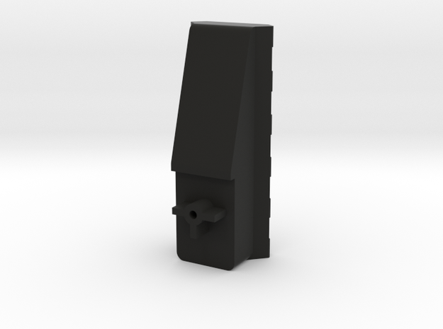 RIS Front Sight Replacement for KWA/HFC Mac11 in Black Natural Versatile Plastic
