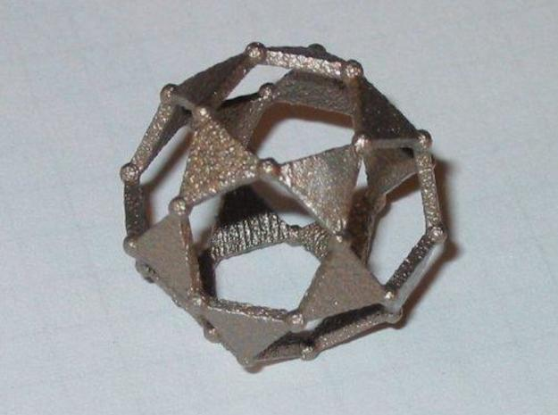 Icosidodecahedron 3d printed Stainless steel Icosidodecahedron