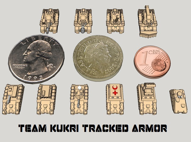 3mm Team Kukri Tracked Armor Sampler (10pcs)