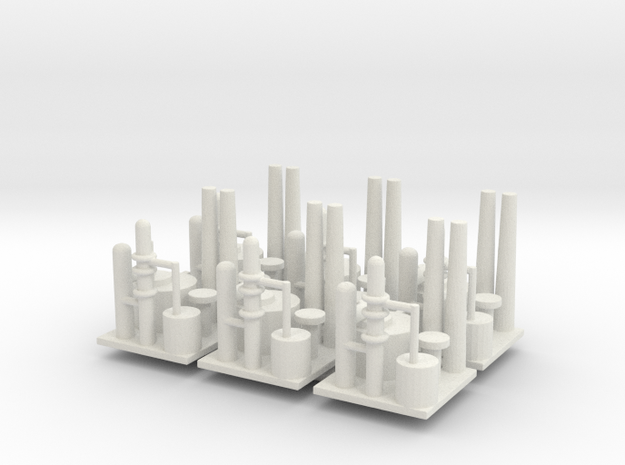 Oil Refinery Set Of 6