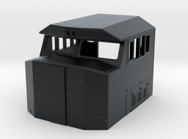 """SD60E """"Crescent"""" Cab (S Scale) in Black Hi-Def Acrylate"""
