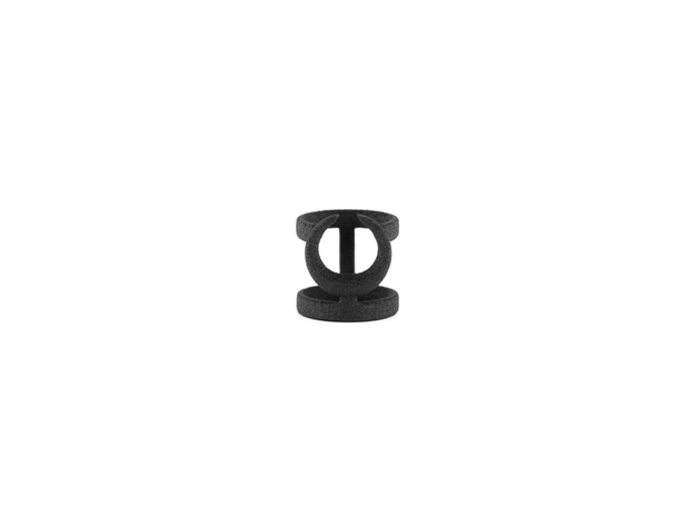 Occult Midi Ring in Black Natural Versatile Plastic: 3 / 44