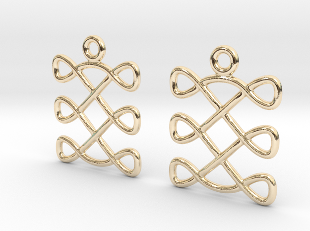 Celtic Weave Earrings - WE004 in 14k Gold Plated Brass