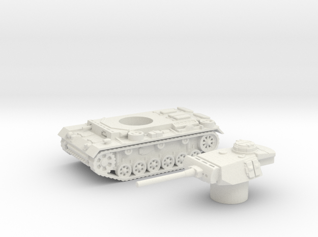 Panzer III L (Germany) 1/87 in White Natural Versatile Plastic