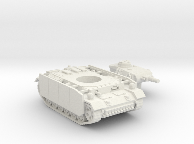 Panzer III tank M (Germany) 1/87 in White Natural Versatile Plastic