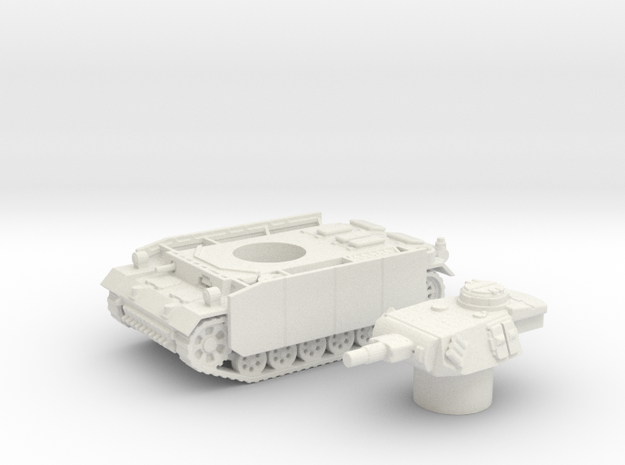 Panzer III tank M (Germany) 1/100 in White Natural Versatile Plastic