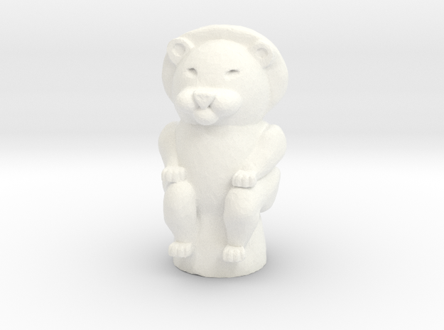 Lion Game Token in White Strong & Flexible Polished