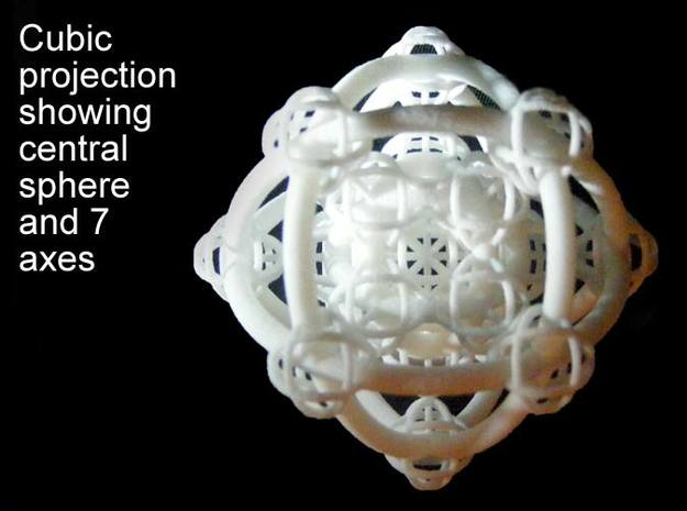Metatron's Hypercube Variations 50mm 3d printed Square centered projection