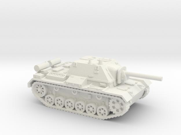 SU - 76i tank (Russian) 1/87 in White Natural Versatile Plastic
