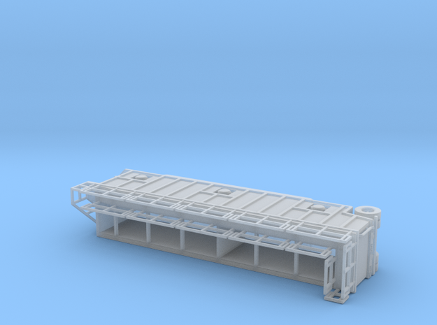 N scale 1/160 Frac Tank 21,000 gal Open Top  in Smooth Fine Detail Plastic
