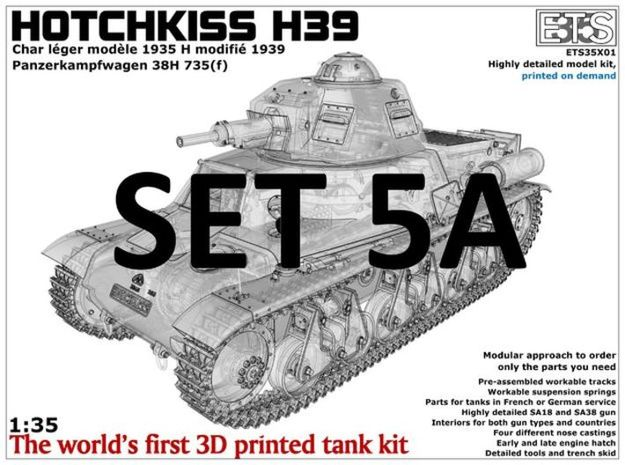 ETS35X01 Hotchkiss H39 - Set 5 option A in Smooth Fine Detail Plastic