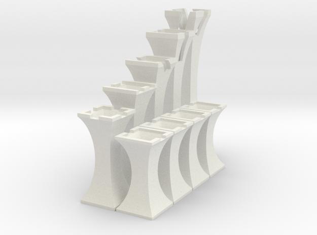 Simplistic Chess  in White Natural Versatile Plastic