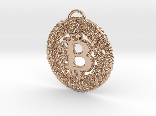 BTC BALLING Pendant in 14k Rose Gold