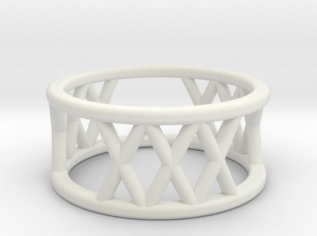 XXX Ring Size-4 in White Natural Versatile Plastic