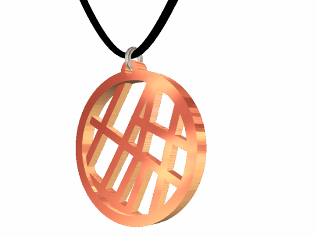 #2 - Map Petite - Rose Gold Pleated in 14k Rose Gold Plated