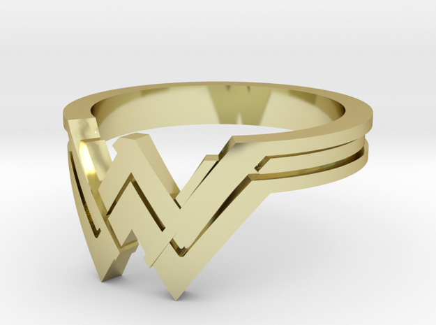 A Wonder Woman Ring in 18k Gold Plated