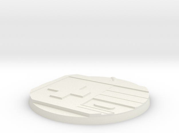 60mm Round Base - Game Controller in White Natural Versatile Plastic