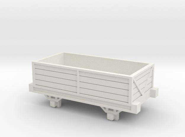 OO9 Talyllyn / Skarloey Railway Open Wagon Type 2 in White Natural Versatile Plastic