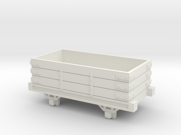 009 Talyllyn / Skarloey Railway Open Wagon Type 1 in White Natural Versatile Plastic