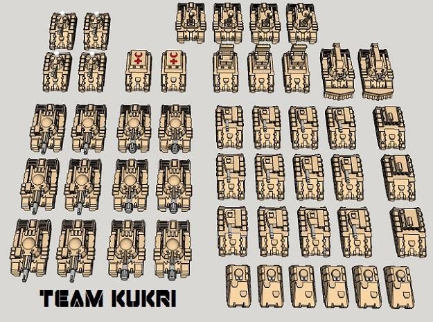 """3mm """"Team Kukri"""" Tracked Armor Task Force (48pcs)"""