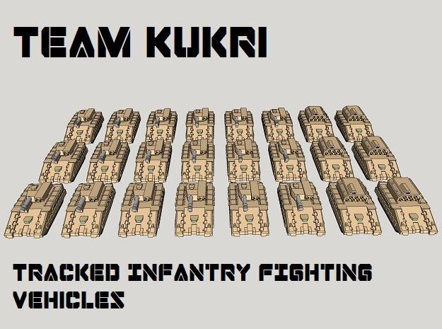 "3mm ""Team Kukri"" Tracked IFV Pack (24pcs)"