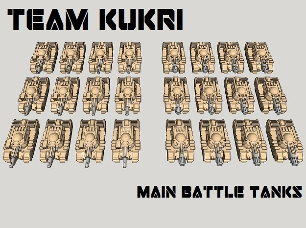 3mm Team Kukri Tank Pack (24pcs) in Frosted Ultra Detail