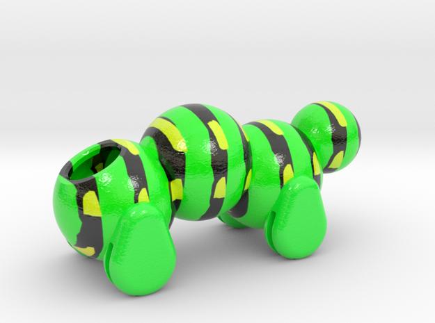 Caterpillar Body in Coated Full Color Sandstone