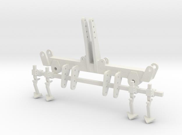 Korund Dreipunktbock 6m/ 9m in White Natural Versatile Plastic