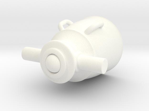 Mortar in White Processed Versatile Plastic