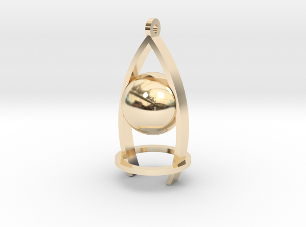 Melancholy ball earing in 14k Gold Plated Brass