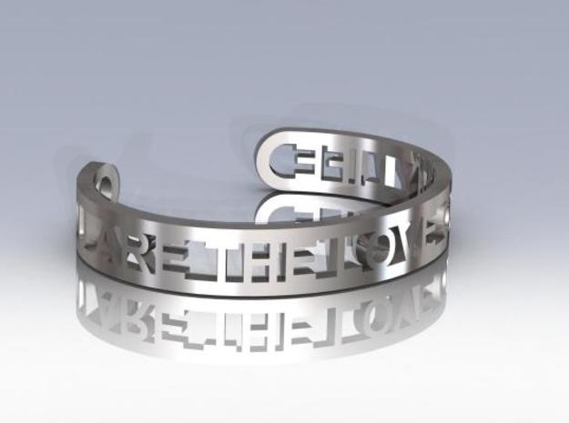 Message Cuff in Stainless Steel