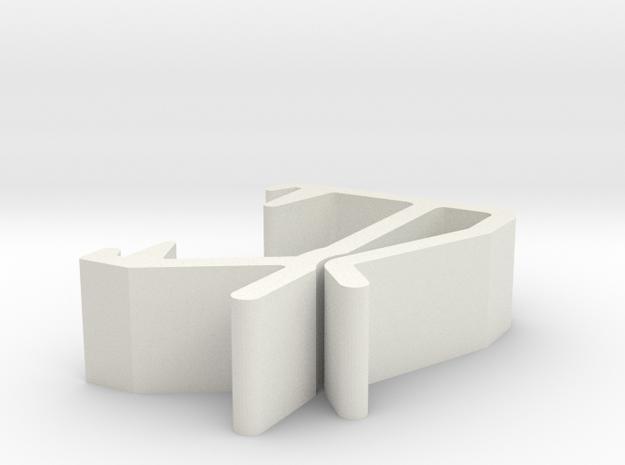 Blind Valance Clip 19BS in White Natural Versatile Plastic