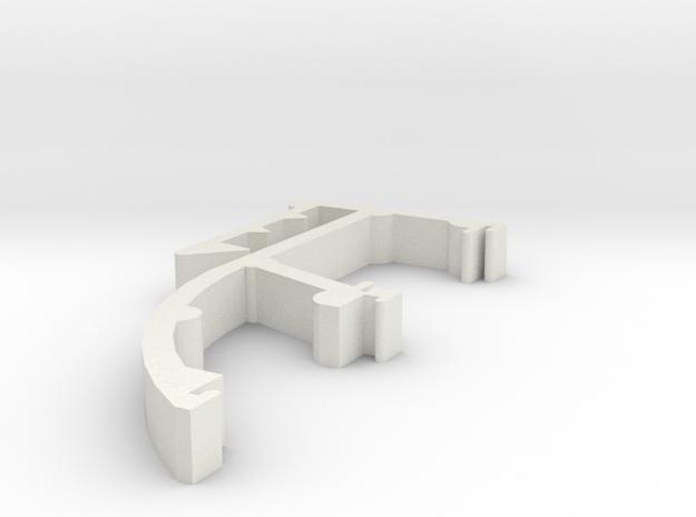 Blind Valance Clip 25b in White Natural Versatile Plastic