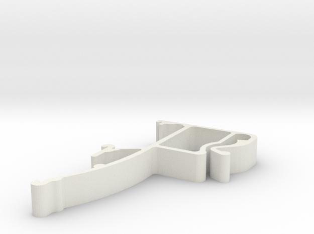 Blind Valance Clip 25 in White Natural Versatile Plastic