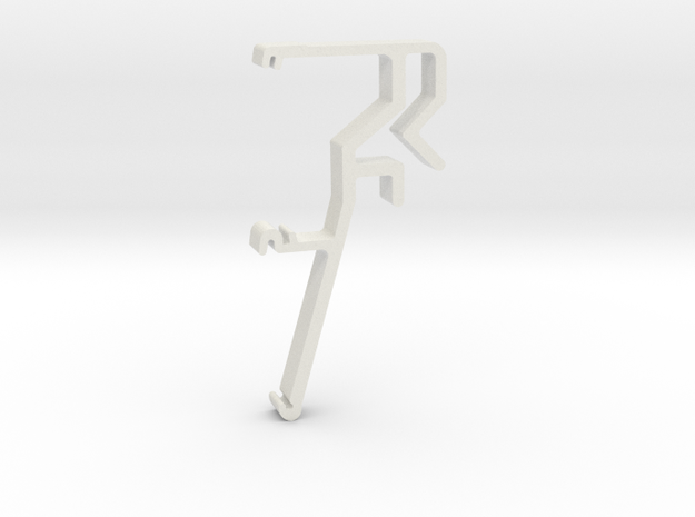 Blind Valance Clip 06 in White Natural Versatile Plastic