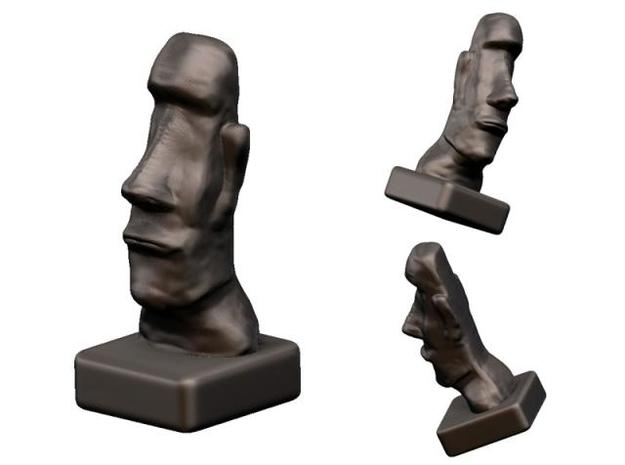 Easter Island Statue (original) 3d printed Rendered version