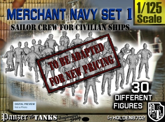 1/125 Merchant Navy Crew Set 1