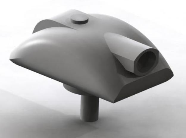 Turret 2 v3 3d printed Render of turret 2 v3