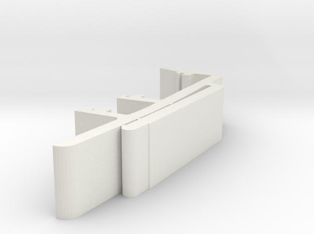 Vertical Valance Clip 1 15 16 A - 2 in White Natural Versatile Plastic