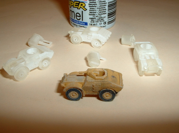 Italian Autoblindo TL 37 Scout Car 1/285 6mm 3d printed