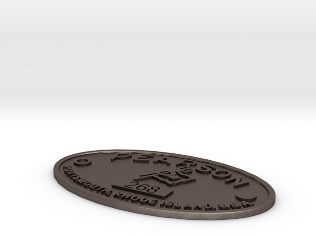 Pearson Badge 268 in Stainless Steel