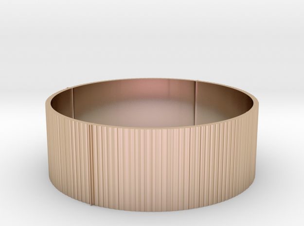 Band Ring in 14k Rose Gold Plated