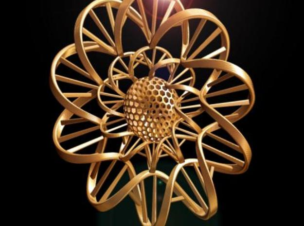 DNA FLOWER PENDANT 3d printed Fig. C