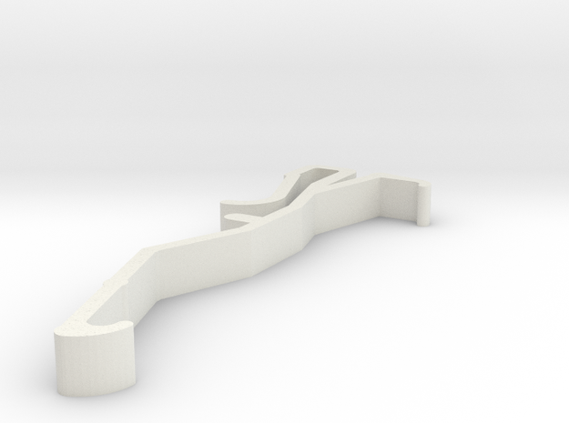 Blind Valance Clip 00153B in White Natural Versatile Plastic