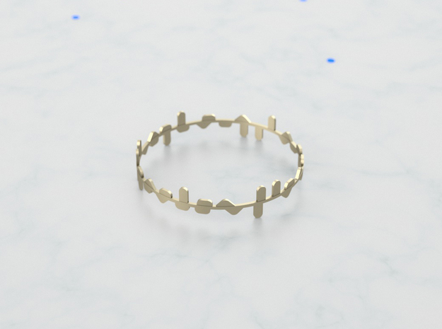 Bracelet Norma x2 in Polished Gold Steel