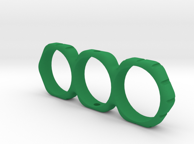 Small Hex Fidget Spinner in Green Processed Versatile Plastic